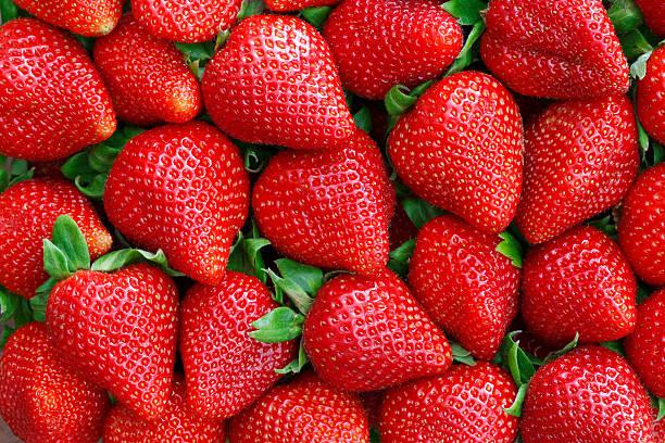 Fresh strawberries background foto