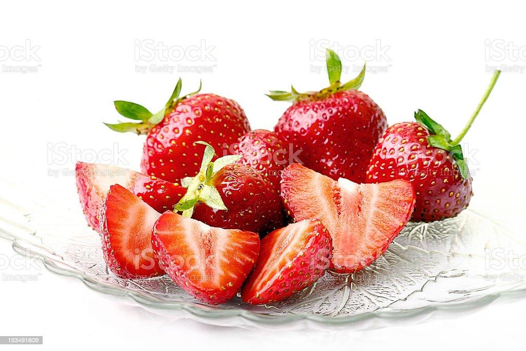 Schüssel frische Erdbeeren in – Foto