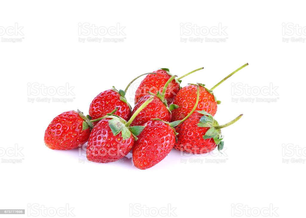 Fresh strawberries isolated on white background photo libre de droits