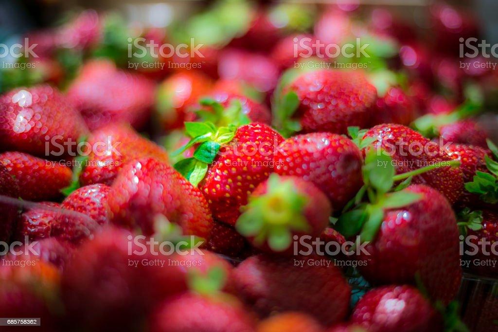 Färska jordgubbar royaltyfri bildbanksbilder