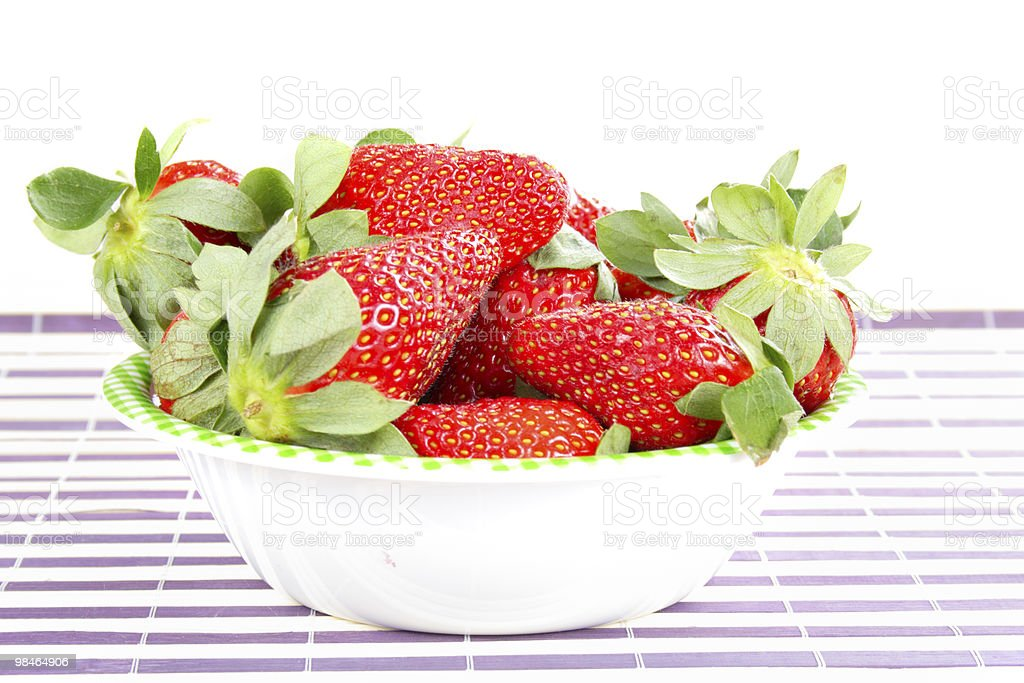 신선한 딸기 제공 royalty-free 스톡 사진