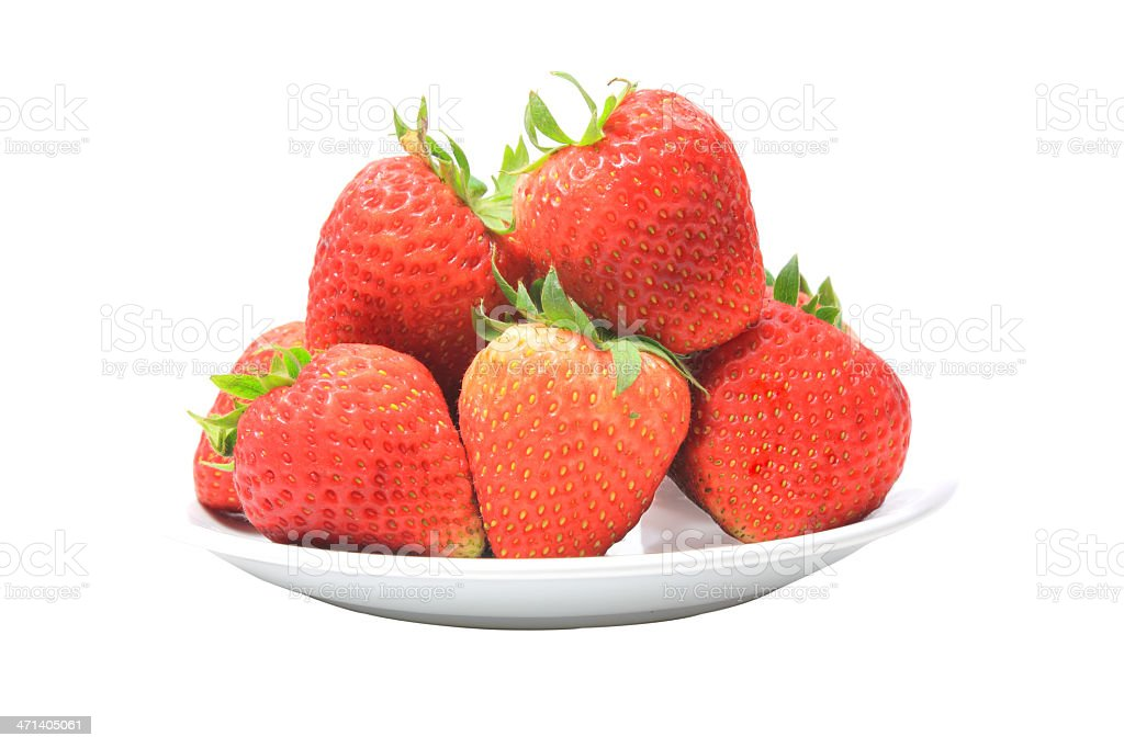 Fresh strawberries ready to serve royalty-free stock photo