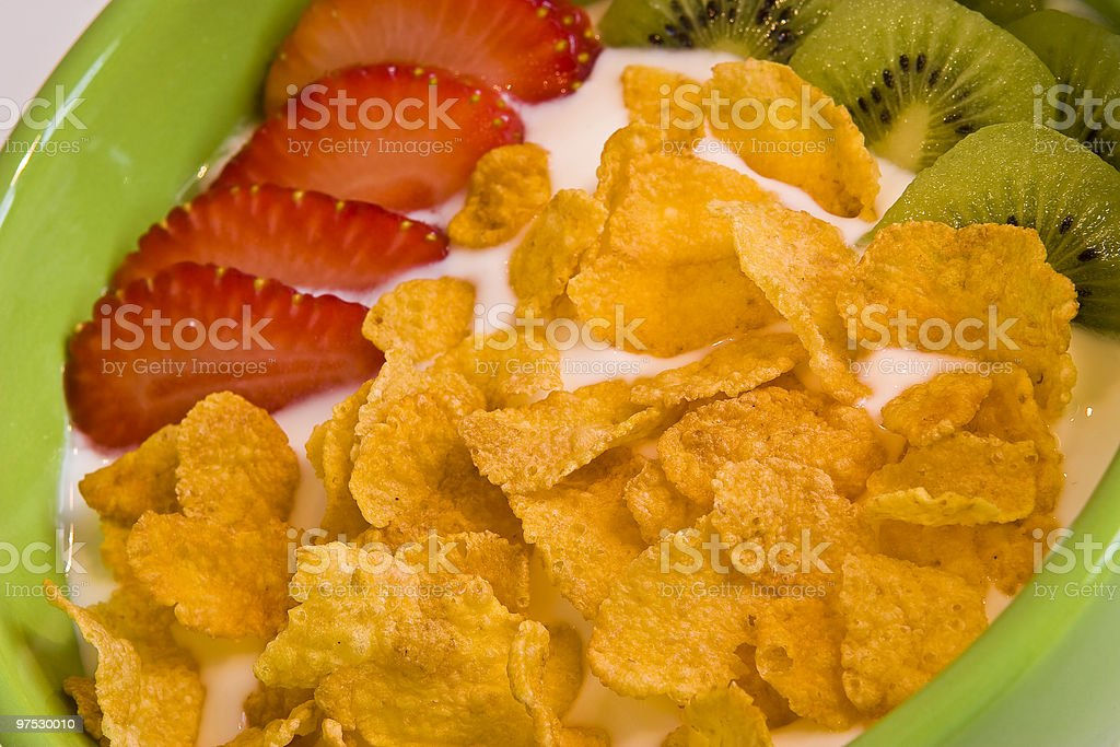 Fresh strawberry and cereal royalty-free stock photo