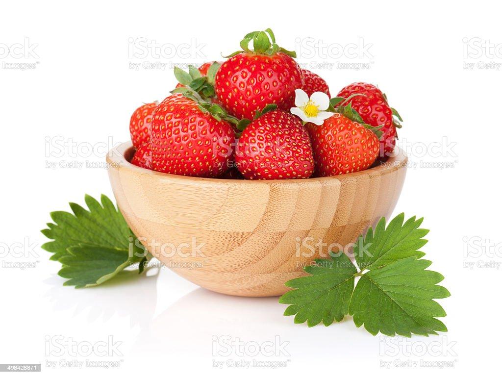Fresh strawberry bowl stock photo