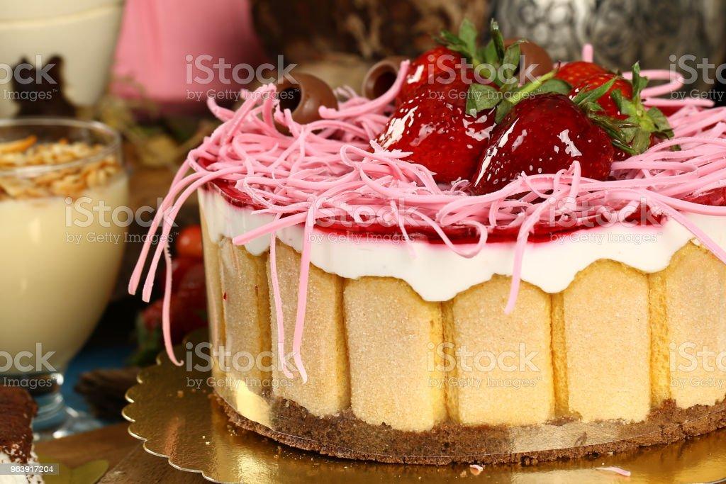 Fresh Strawberry Cake - Royalty-free Baked Stock Photo