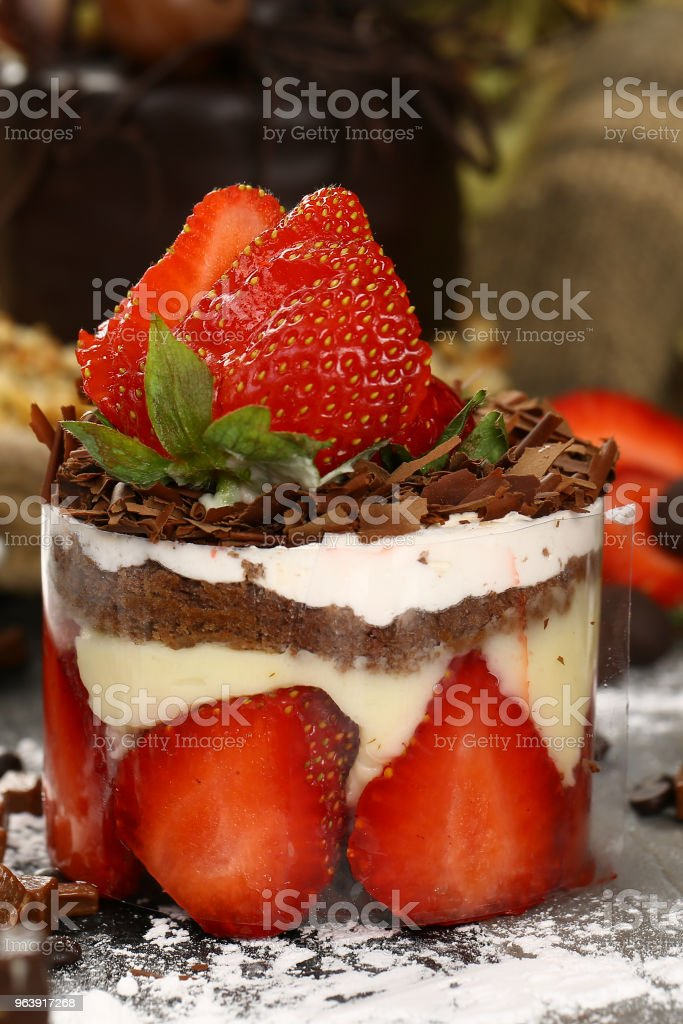 Fresh Strawberry Cake - Royalty-free Baked Stock Photo