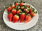 Strawberry, juicy fruit rich of vitamin and dietary fiber