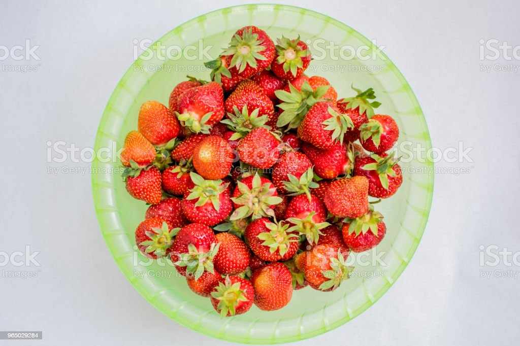 fresh Strawberry in a bowl royalty-free stock photo