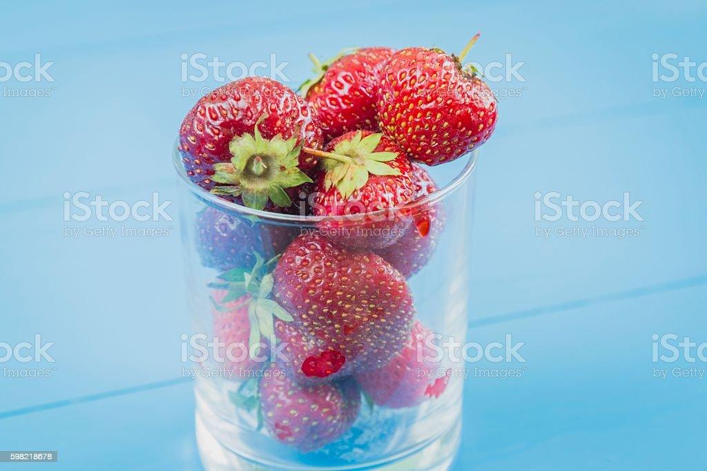 Fresh strawberry in glass foto royalty-free