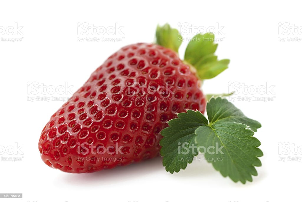 Fresh strawberry isolated (macro) royalty-free stock photo