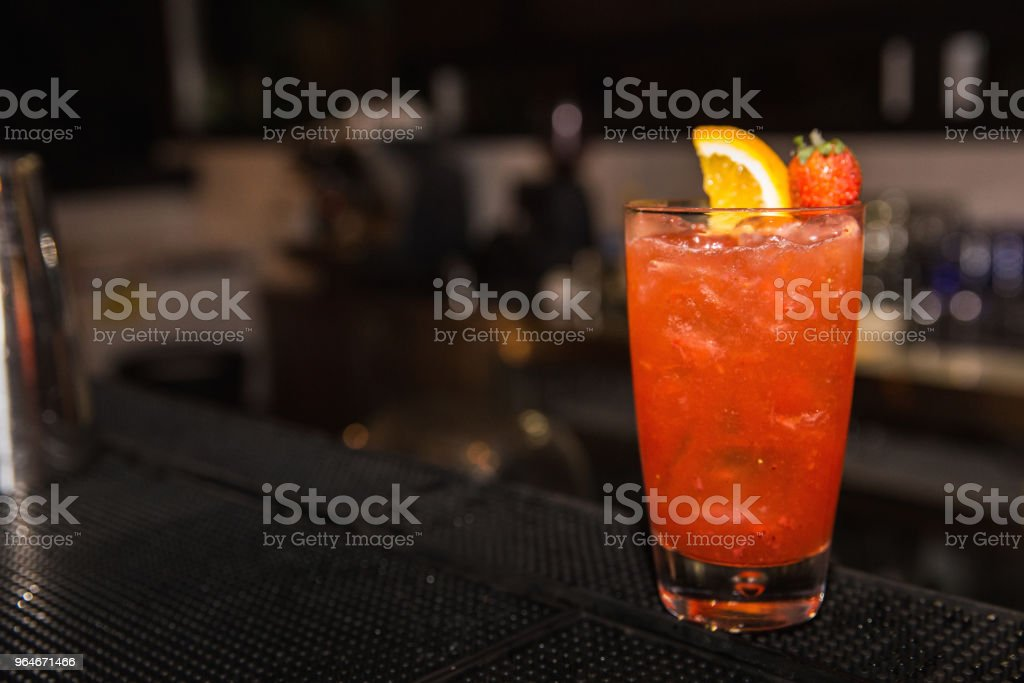 Fresh strawberry lemonade royalty-free stock photo