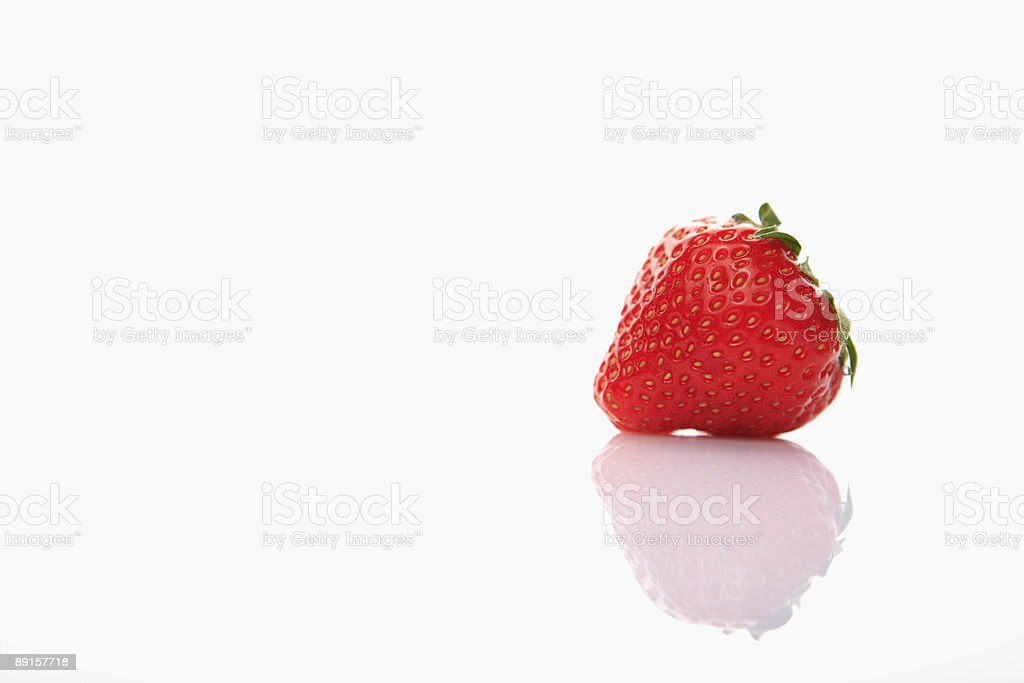 fresh strawberry on clear white background stock photo