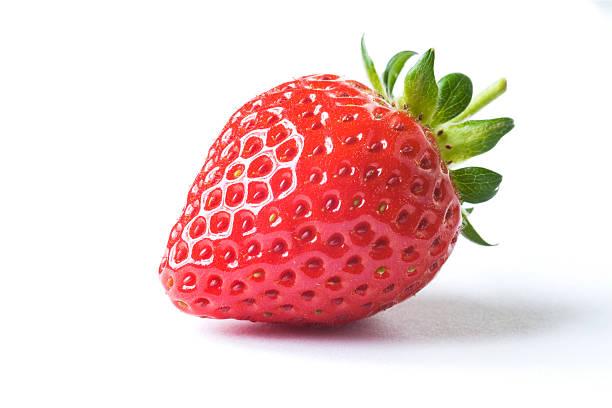Fresh strawberry on white background