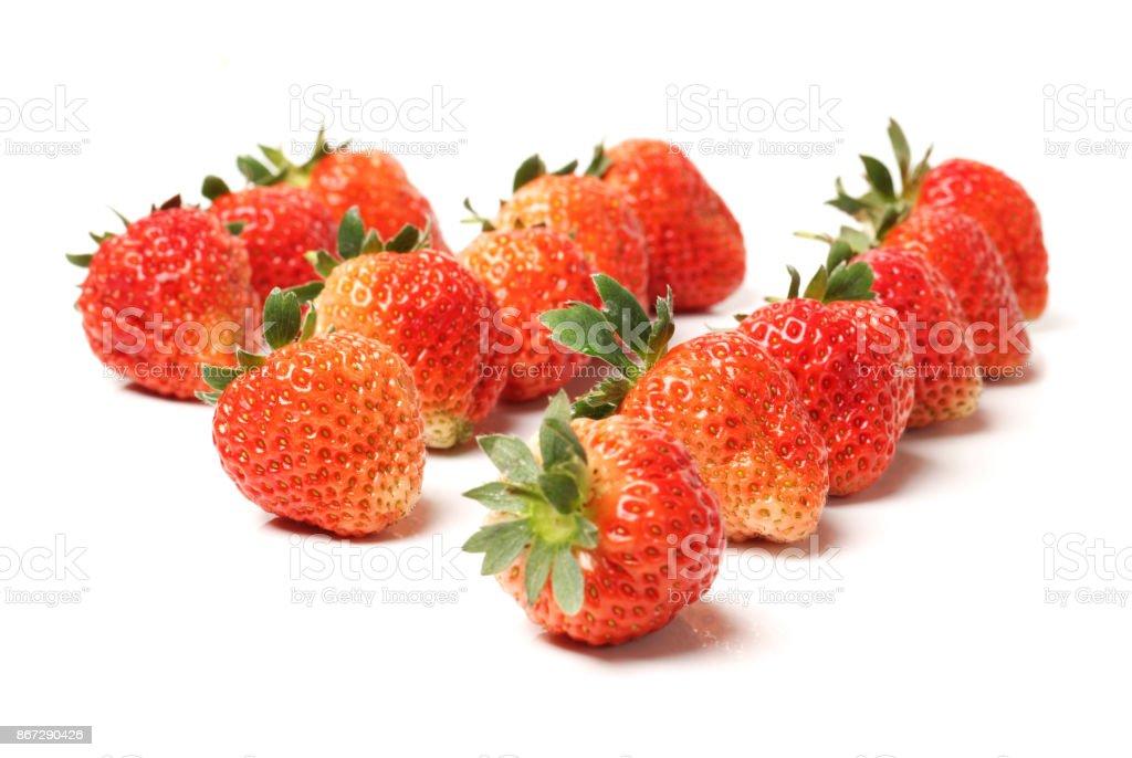 Fresh strawberry  on white background stock photo