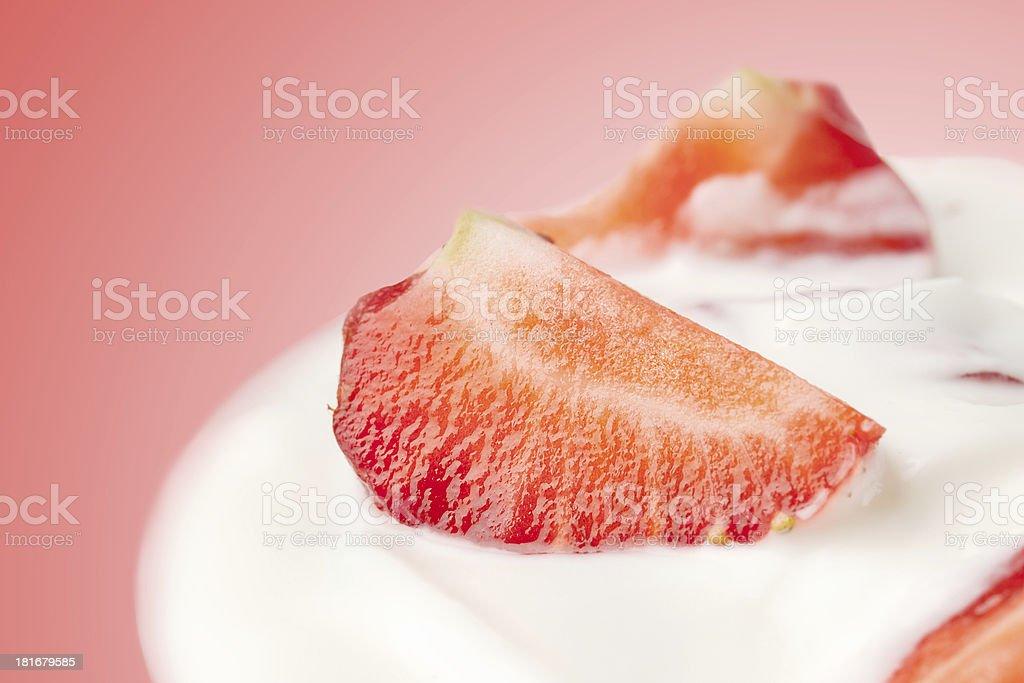 fresh strawberry with yogurt royalty-free stock photo
