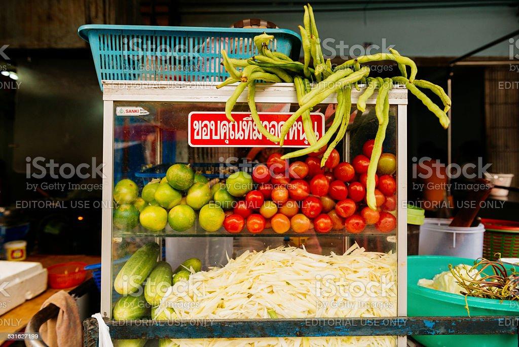 Fresh Street Food Cart in Bangkok Thailand stock photo