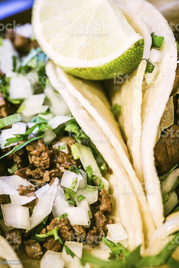 Fresh Street Vendor Tacos royalty-free stock photo
