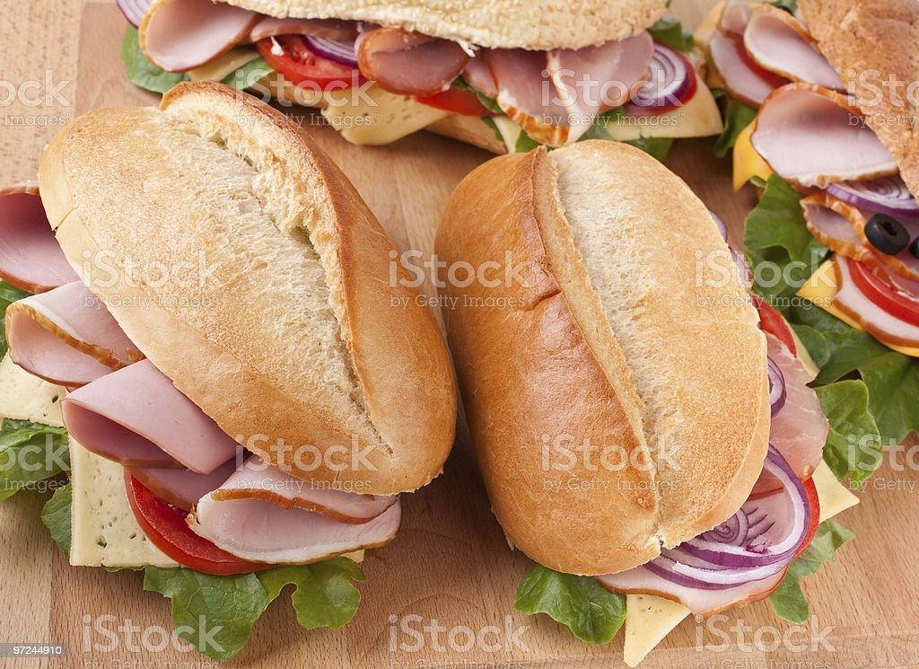 fresh stuffed sandwiches royalty-free stock photo