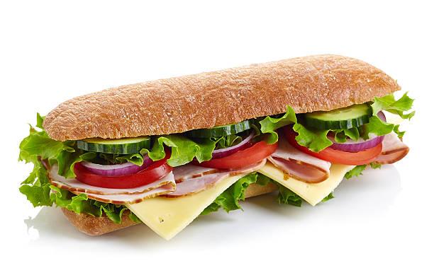 fresco panino submarine - subway foto e immagini stock