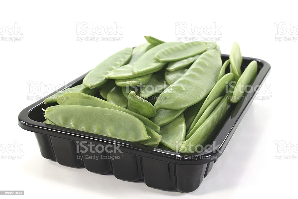 fresh Sugar peas in a bowl royalty-free stock photo
