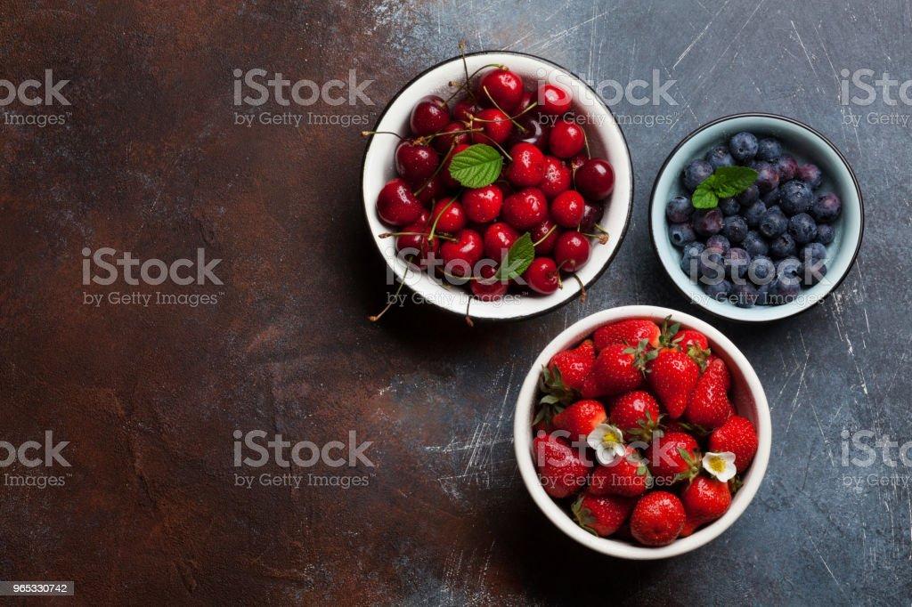 Fresh summer berries zbiór zdjęć royalty-free