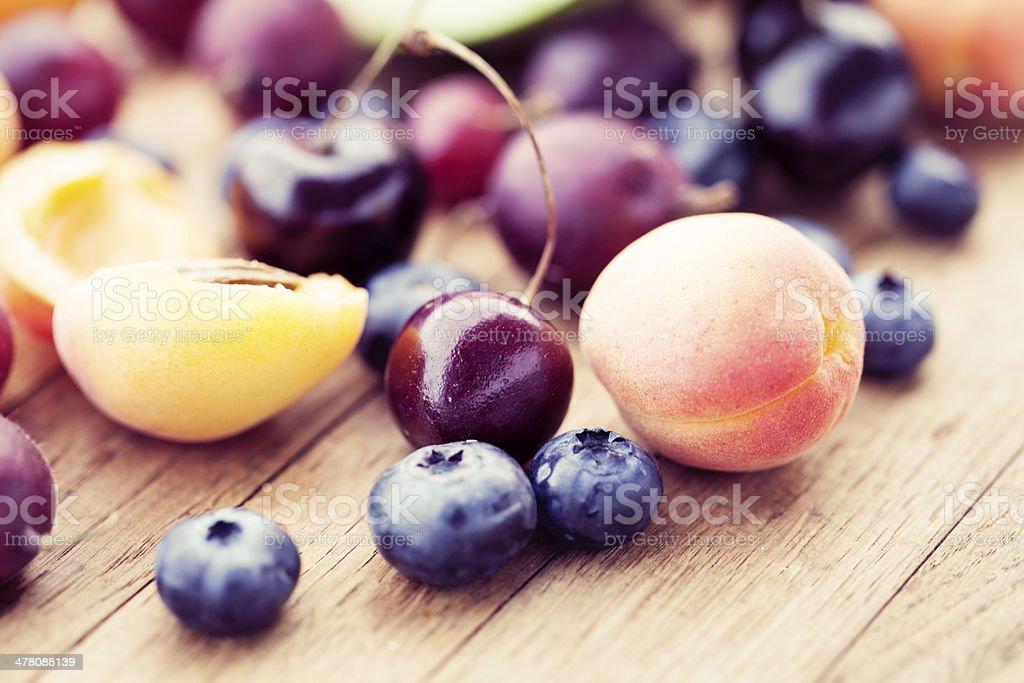 fresh summer fruit royalty-free stock photo