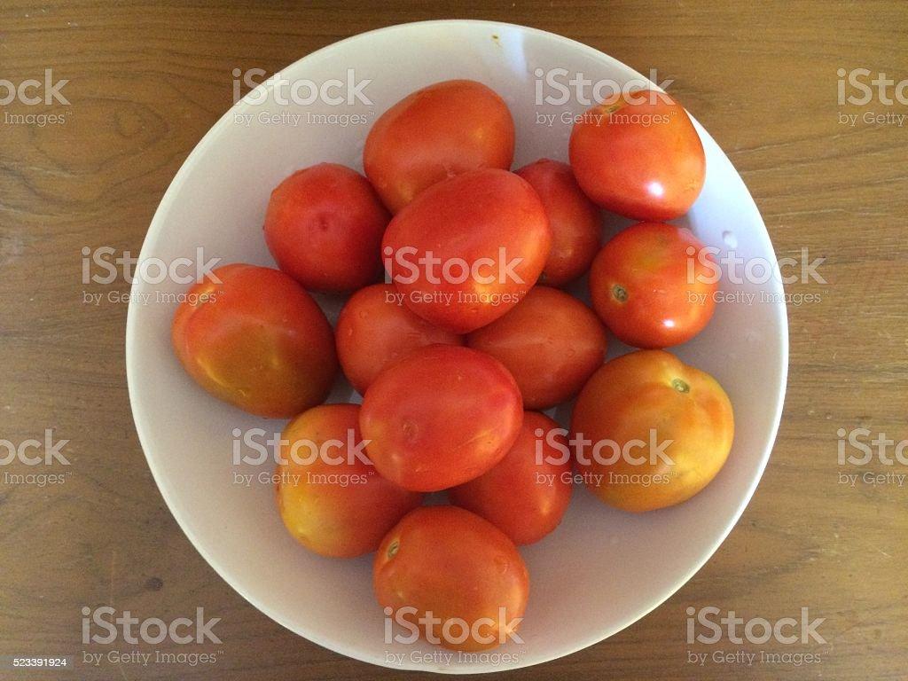 Fresh Summer Tomatoes stock photo