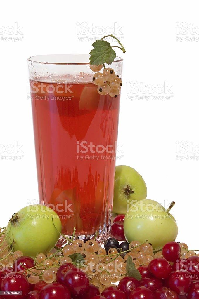 fresh summer vitaminous beverage on white background royalty-free stock photo