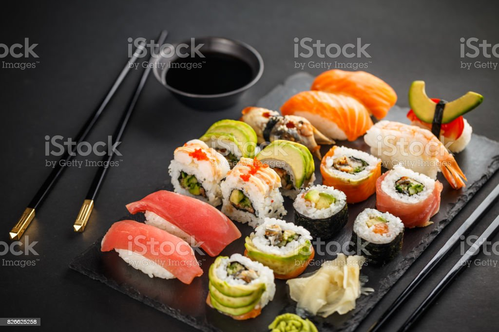 Assiette de sushis - Photo