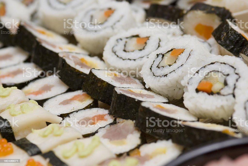 Fresh sushi rolls royalty-free stock photo