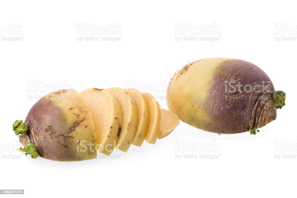 Fresh Swede isolated on a white background foto de stock royalty-free
