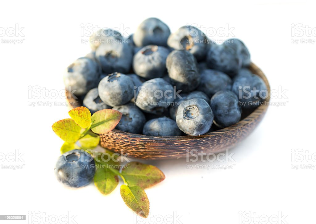 Fresh sweet tasty blueberries on white background royalty-free stock photo