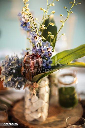Fresh table setting for celebration
