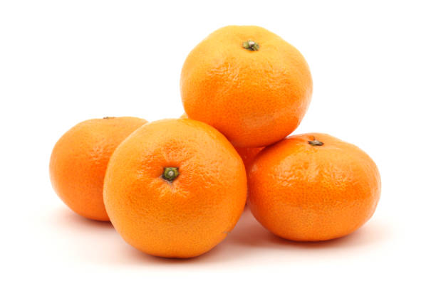 Fresh tangerines   isolated   on the white  Background Fresh tangerines   isolated   on the white  Background tangerine stock pictures, royalty-free photos & images