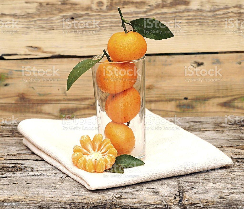 fresh tangerines royalty-free stock photo