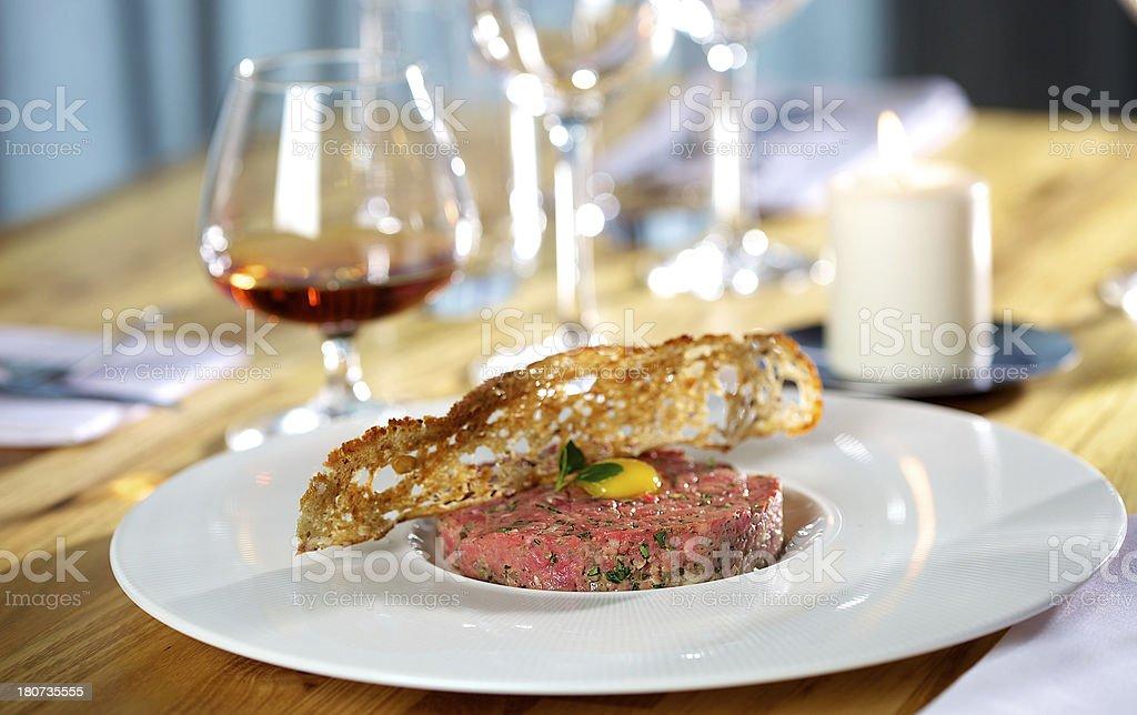 Fresh tartare steak royalty-free stock photo