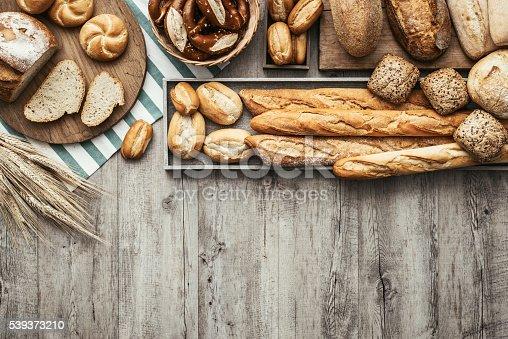istock Fresh tasty bread 539373210