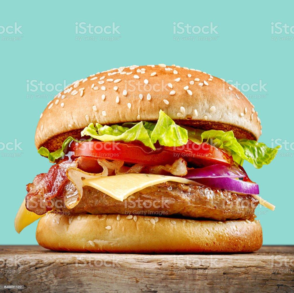 fresh tasty burger stock photo