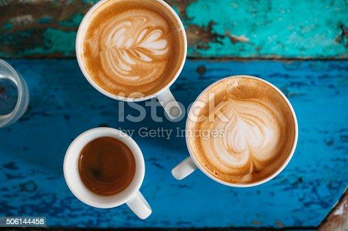 istock fresh tasty coffee cups 506144458
