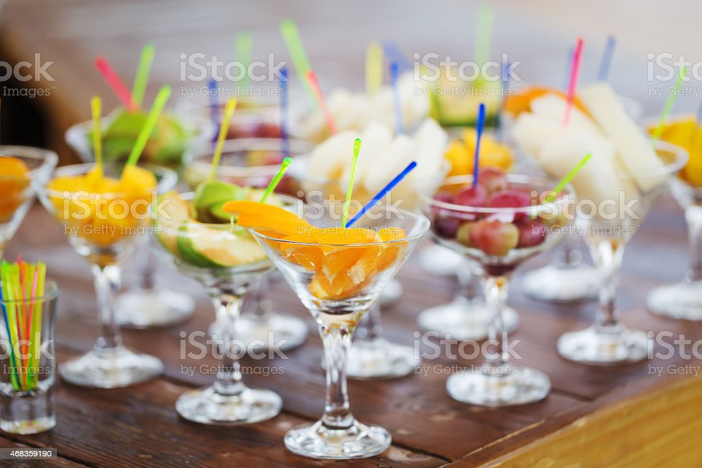 Fresh tasty fruit cuts royalty-free stock photo