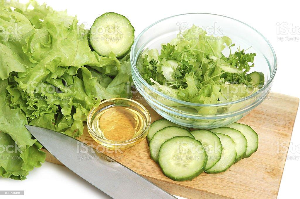 Fresh tasty greens royalty-free stock photo