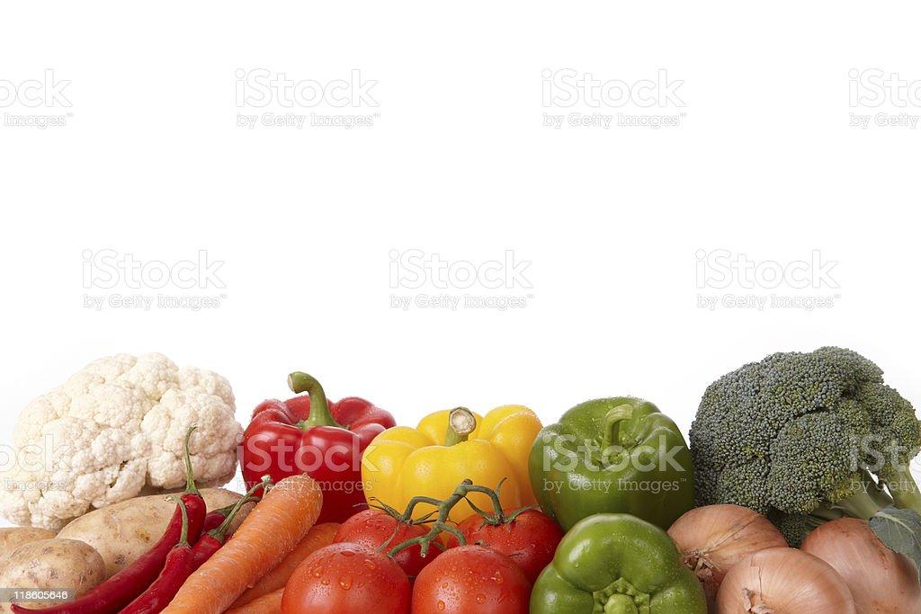 Fresh Tasty Vegetables Isolated On White (XXL) royalty-free stock photo