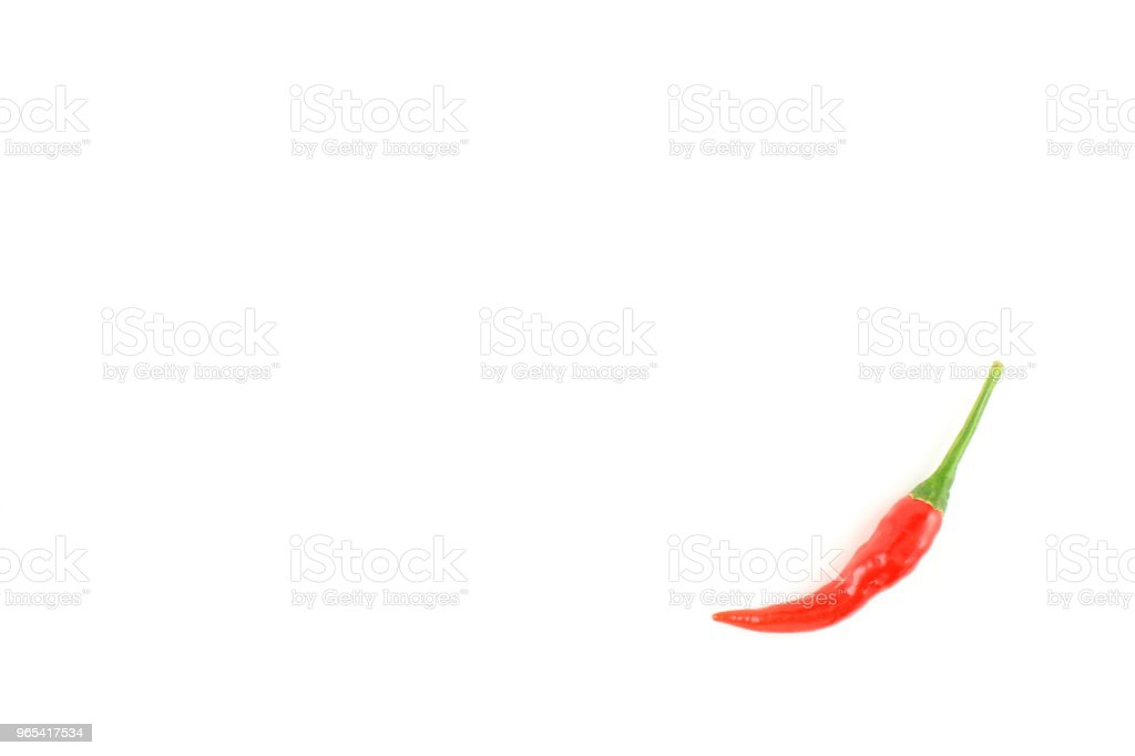 fresh thai chili pepper isolated on a white background food background texture royalty-free stock photo