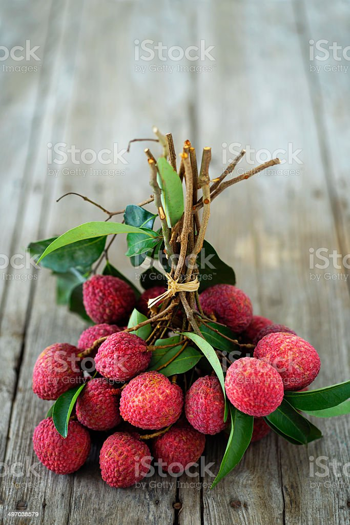 Fresh Thai Lychees. stock photo