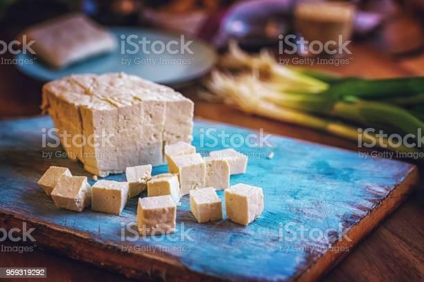 Verse Tofu En Lenteuitjes Stockfoto en meer beelden van Bosui