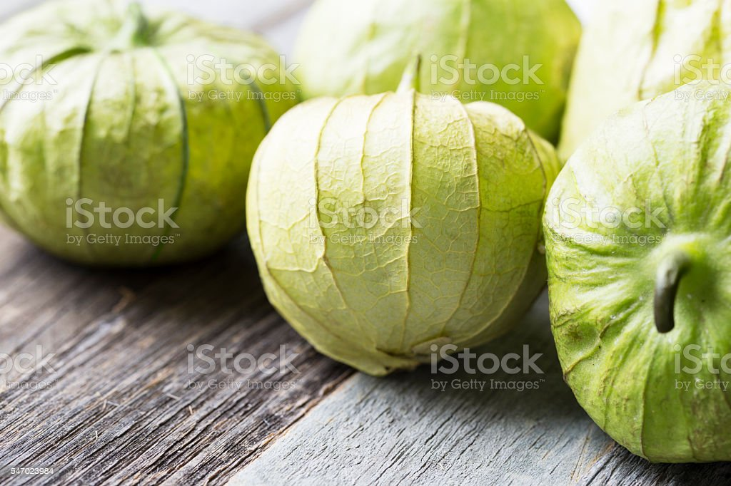Fresh Tomatillos stock photo