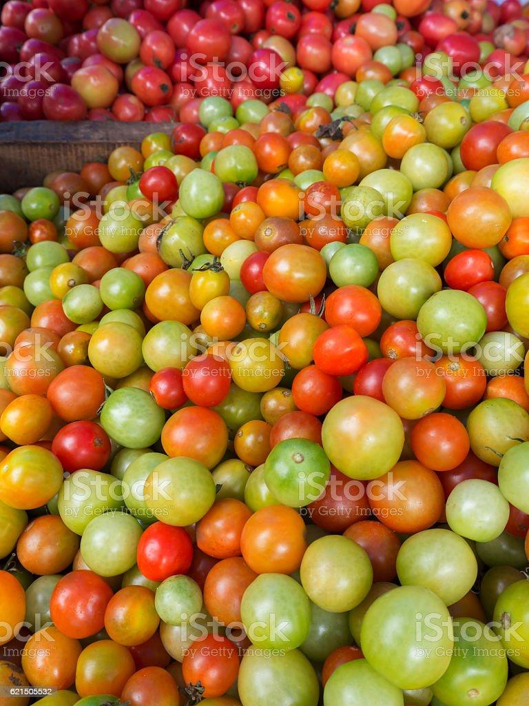 Frischen Tomaten zum Verkauf auf Markt, Thailand  Lizenzfreies stock-foto