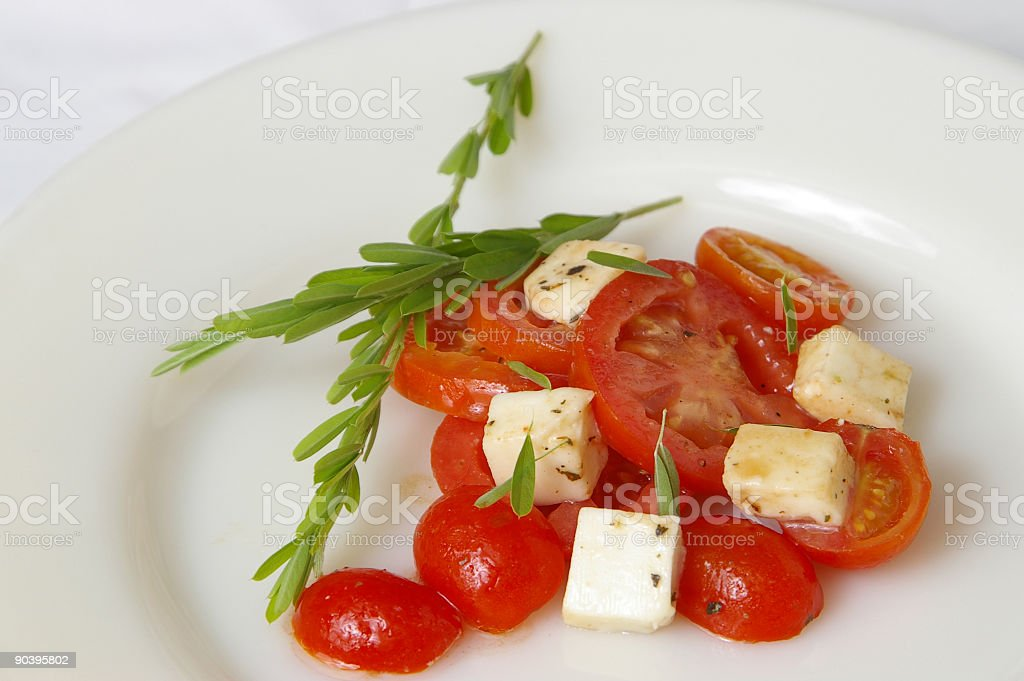 Fresh Tomato Salad 2 royalty-free stock photo