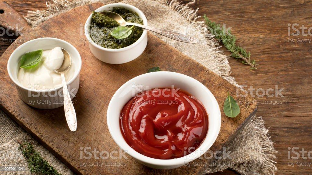 Fresh tomato sauce stock photo