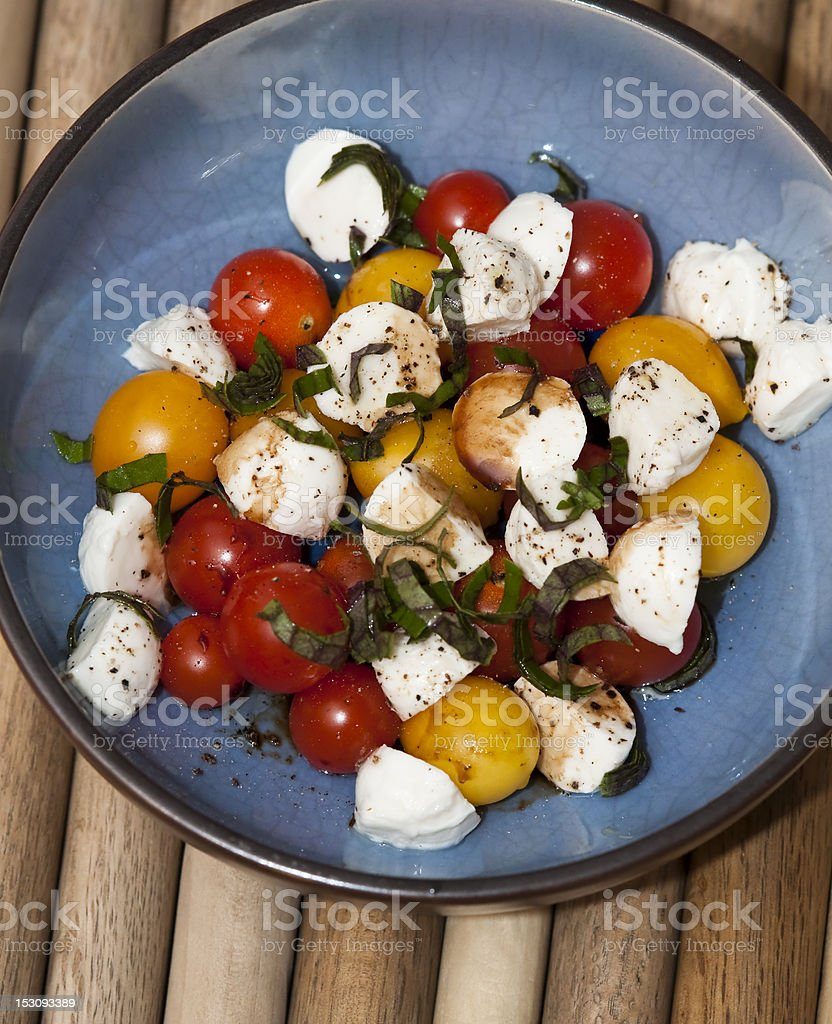 Fresh Tomatoes and Mozzarella stock photo